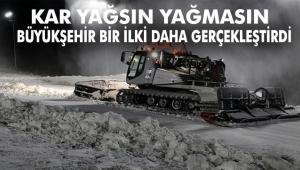 TÜRKİYE'DE BİR İLK: KAR DEPOLAMA UYGULAMASI ERZURUM'DA BAŞLADI