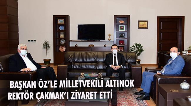 AK PARTİ MİLLETVEKİLİ ALTINOK'LA İL BAŞKANI ÖZ'DEN ETÜ'YE ZİYARET