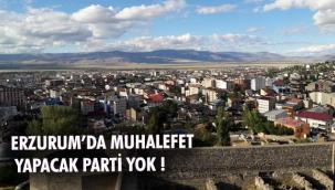 ERZURUM'DA MUHALEFET YAPACAK PARTİ YOK