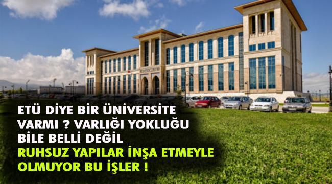 Erzurum Teknik Üniversitesi'nin yeterince tanıtımı yapılmıyor