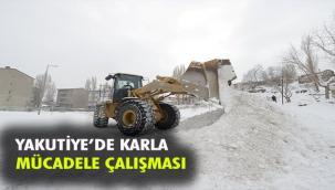 YAKUTİYE'DE KAR MESAİSİ