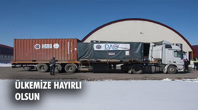 Doğu Anadolu Gözlemevinin (DAG) teleskobu Erzurum'a ulaştı