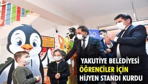 Yakutiye'de öğrencilere çizgi film karakterli hijyen standı