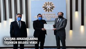 ETÜ'de 5. Görev Yılını Dolduran Personele Teşekkür Belgesi Verildi