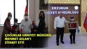 Öğrenciler Erzurum İl Emniyet Müdürlüğünü ziyaret etti