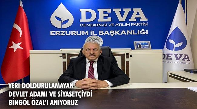 """VAHİT BİNGÖL: """"Turgut Özal; büyük bir devlet adamı ve siyasetçiydi."""""""