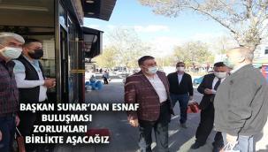 Sunar 1 ve 2. Marketlerde Esnaf ziyareti yaptı