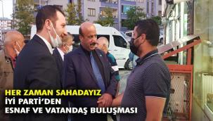 İYİ Parti Palandöken'den esnaf ziyareti