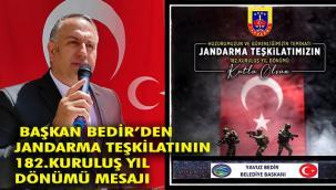 JANDARMA TEŞKİLATI'NIN 182. KURULUŞ YILDÖNÜMÜ