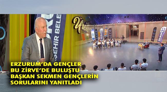 Erzurum'da Gençler 'Gençlik Zirvesi'nde Buluştu
