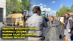 Yakutiye Belediyesi Asfaltta hız kesmiyor