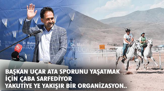 Erzurum'da düzenlenen Geleneksel Rahvan At Yarışları nefes kesti