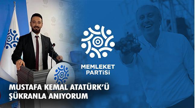 Memleket Partisi Erzurum İl Başkanı Serhat Can Eş'ten 30 Ağustos Mesajı