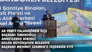 ''AK Parti iş yapar, birileri sadece söylem üretir''