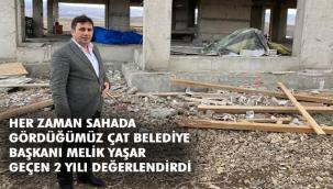 Başkan Yaşar belediyenin çalışmalarından bahsetti