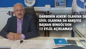 Deva Partisi İl Başkanı Bingöl'den '12 Eylül' Mesajı
