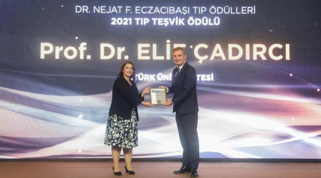 2021 Tıp Teşvik Ödülü Prof. Dr. Elif Çadırcı'nın