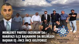 Memleket Partisi'nin Karayazı İlçe Başkanı Necati Üşent oldu