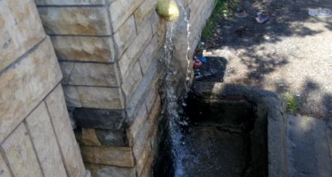 Çeşmenin suyu yola akıyor Yeni