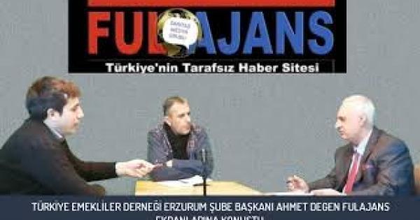 Emekliler Derneği Erzurum Şube Başkanı Ahmet Değen derneğin faaliyetlerini anlattı